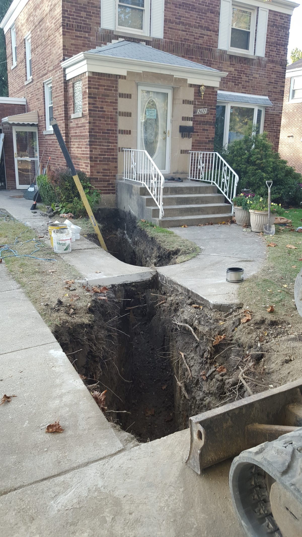Sewer Replacement In North Riverside, IL Due To Tree Roots