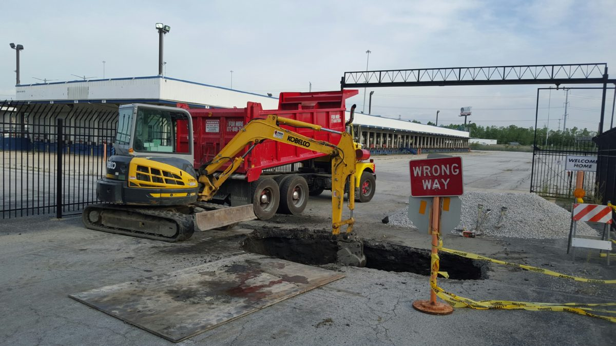 A NEW storm sewer installed in Chicago