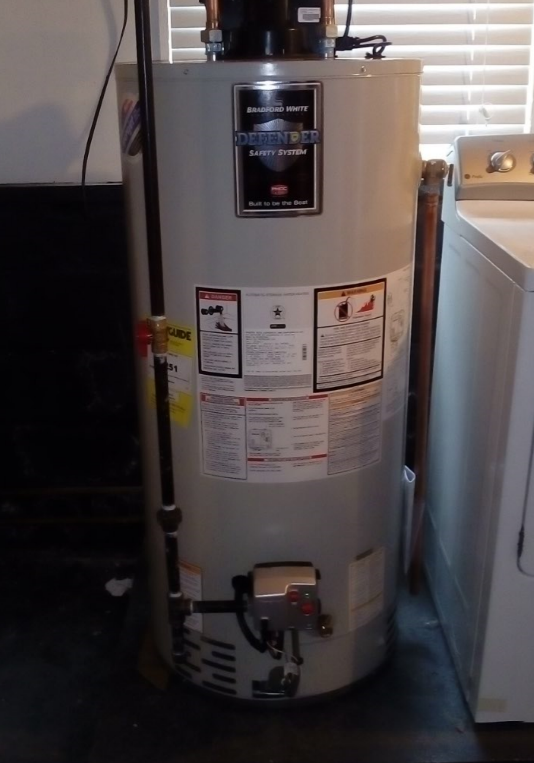 New 50 Gallon Bradford White Water Heater Installed
