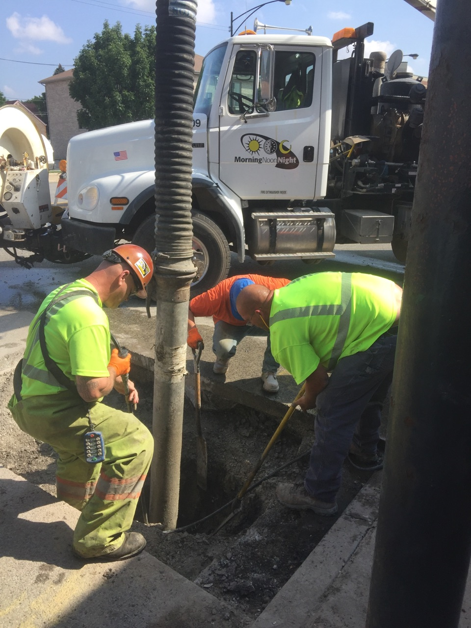 Sewer Repair On Archer Avenue In Chicago
